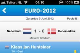 EK 2012 iPhone-apps Euro 2012