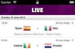 EK 2012 iPhone-apps Euro 2012 App