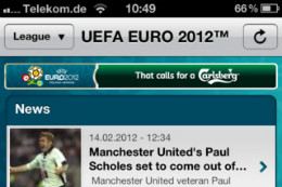 EK 2012 iPhone-apps UEFA EURO 2012 by Carlsberg