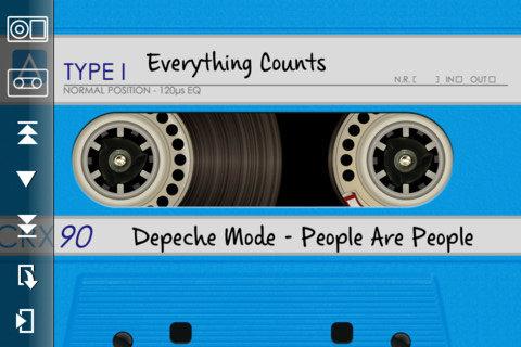 DeliTape blauwe cassette iPhone