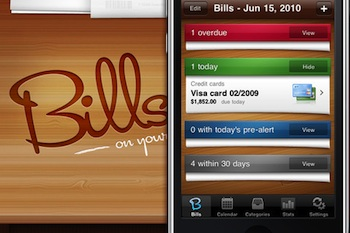 bills on your table iphone