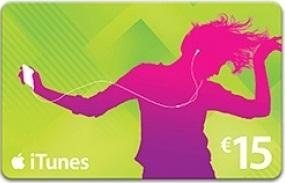 iTunes 15 euro