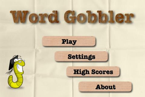 Word Gobbler simpel menu