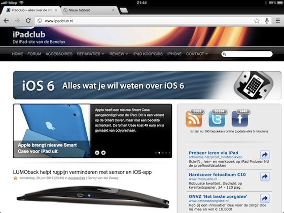 ipadclub chrome browser