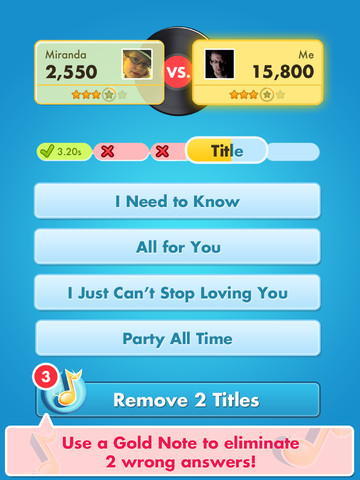 Song Pop iPad nummer kiezen