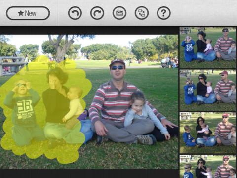 GroupShot iPad selecteren
