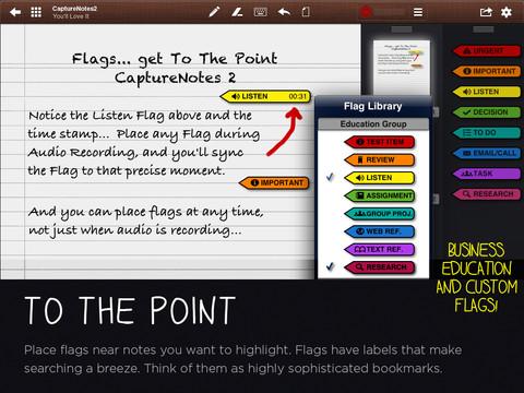 CaptureNotes flags op het document