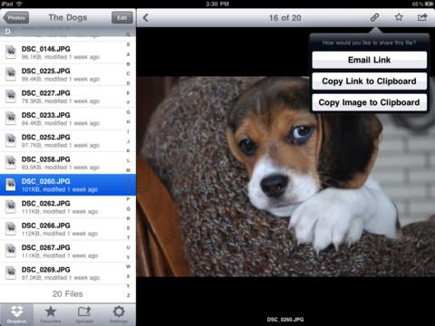 Dropbox foto's bekijken