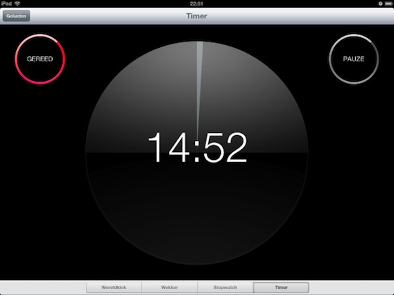 ipad klokapp timer