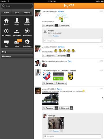 Hyves iPad vernieuwde WWW