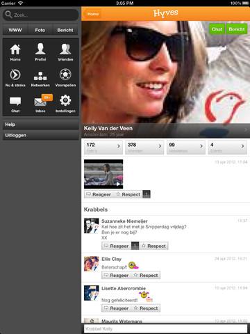 Hyves vernieuwd iPad profiel