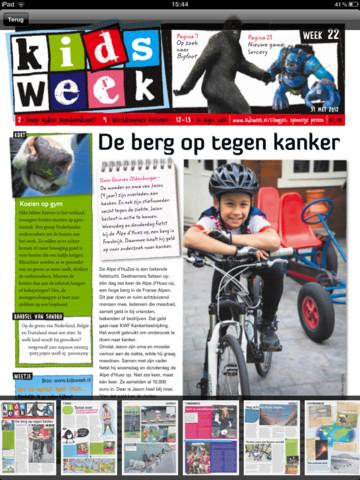 Kidsweek krant voorpagina