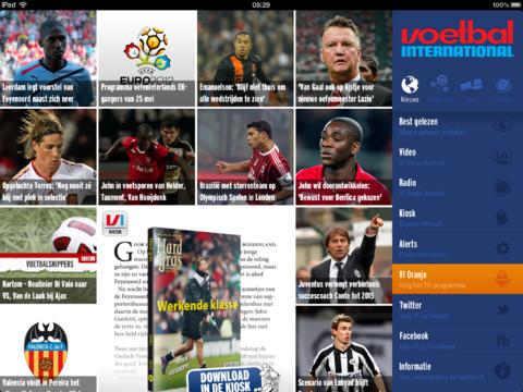 VI Tablet Voetbal International update