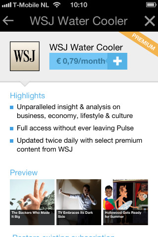Pulse News iPhone iPod touch WSJ Water Cooler