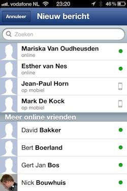 facebook messenger screen
