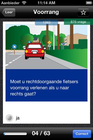 iTheorie Nederland voorbeeldvraag