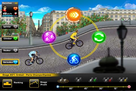 Tour de France 2012 actiemenu