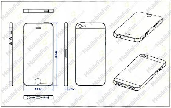 iPhone 5 tekening