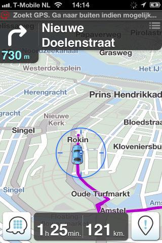 Waze gratis iPhone-navigatie