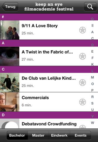 NFTA 2012 Filmacademie Festival App