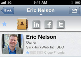 Savi People Eric Nelson iPhone app