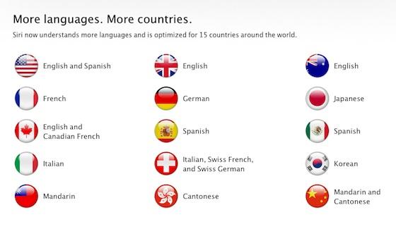 Siri talen