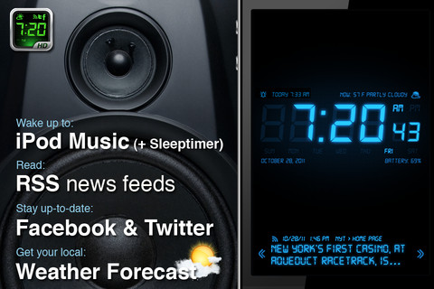 iOS 6 versus apps Wekker iPhone alarm