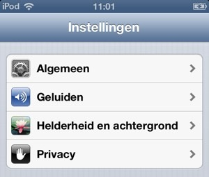 privacy instellingen ios 6
