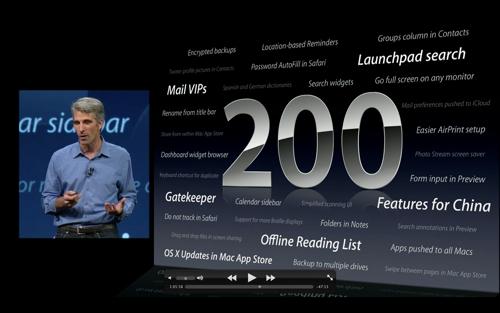 Presentatieslide: OS X Mountain Lion