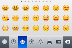 Emoji screen
