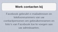Facebook contacten bijwerken
