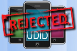 udid rejected