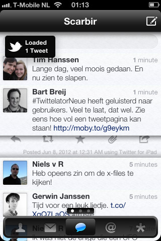 Twittelator Neue nieuwe laadbalk