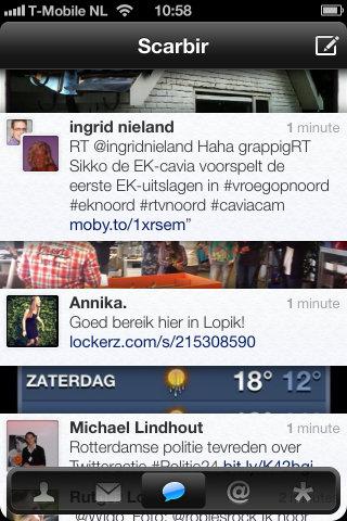 Twittelator Neue timeline