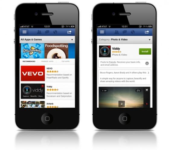 facebook app center iphones
