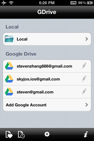 GDrive for Google Drive iPhone meerdere accounts