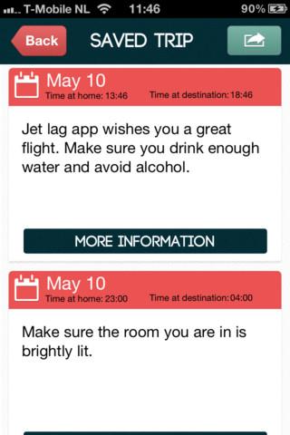 Jet Lag App tips voor onderweg