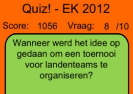 Leuke EK iPhone-apps Quiz EK 2012
