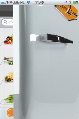 Left2Cook open koelkastdeur
