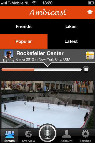 Ambicast iPhone screenshot opname