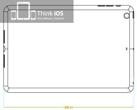 iPad mini tekening 2