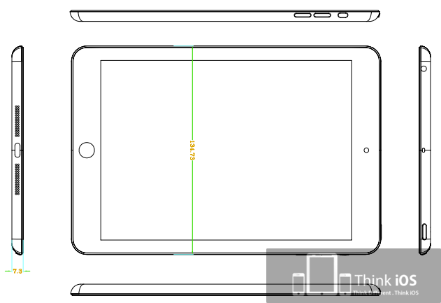 iPad mini tekening 1