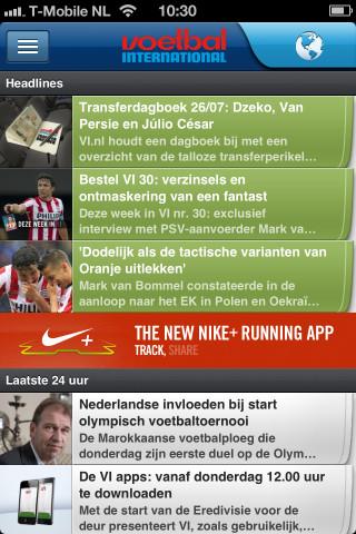 Voetbal International nieuws