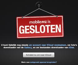 MobileMe gesloten
