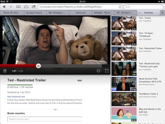 youtube ipad webapp