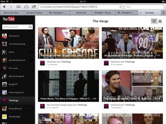 youtube webapp