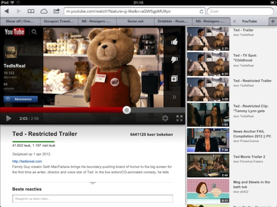 youtube ipad app