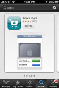 App Store iOS 6 Chomp zoeklayout