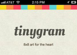 Tinygram Intagram met pixel art iPhone header