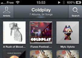 Ecoute header nieuwe muziekspeler iPhone